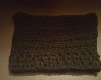 Crocheted black cat hat for a newborn