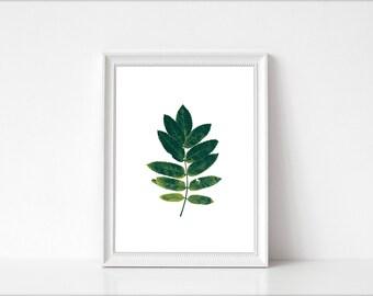 Leaf Print,Leaf wall art, Printable art,Leaf, Art Print, nature Decor, Minimalist Art, Modern Wall art Print