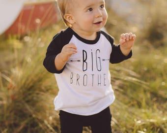 Big Brother Shirt, Modern and Minimal Boys Top, Big Bro Kids Graphic Tee, Boys' Clothing, Boys Shirt