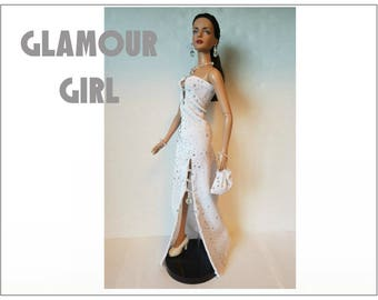"Tyler Doll Clothes - GLAMOUR GIRL Hand-beaded Gown, Purse and Jewelry Set - Custom Fashion fits 16"" Tonner dolls - by dolls4emma"