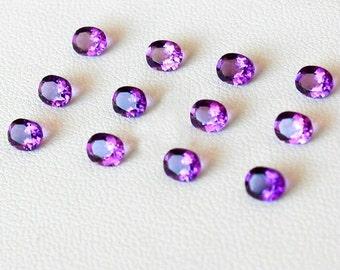 Naturales piedras preciosas sueltas amatista cabujón oval púrpura amatista cristal de cuarzo suelta piedra tamaño más sanación cristal alta calidad VVS