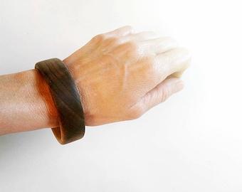 Walnut Wood Wooden Bangle, Wood Bracelet, Wooden Bangle, Wooden Jewelry, Natural Jewelry, Round Bracelet, Girl Wooden Bracelet, Gift For Her