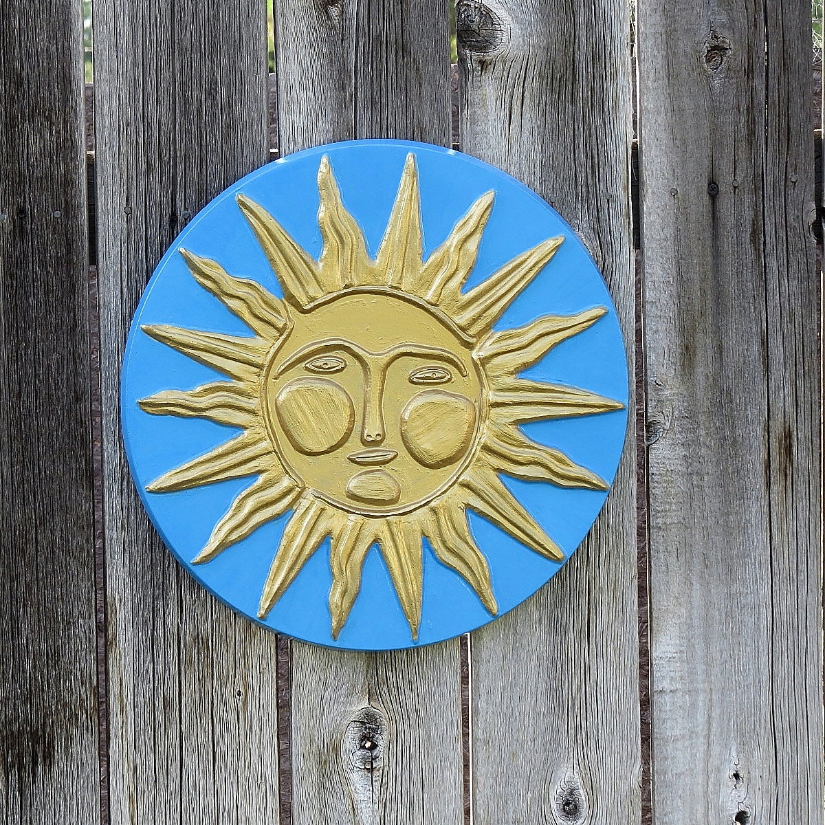 Perfect Large Metal Sun Face Sunburst Plaque Wall Decor Image - Wall ...