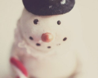 snowman, winter, Christmas, holiday, fine art photography