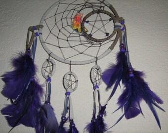Moondancer Native Dreamcatcher,Mobile Moon,Stars dance around this dreamcatcher, Lavender,Purple,Periwinkle-