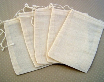 Set of 5 Pocket made of cotton 12, 5 x 7, 5cm - S-0176