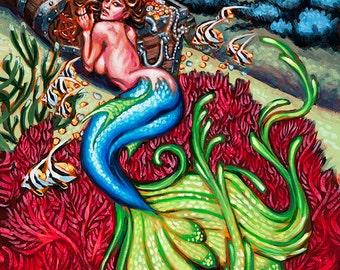 BigToe Coral Garden Art Print