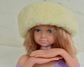 Vintage Lamb Fur hat Vintage Cuff Hat By STANTON, genuine fur hat