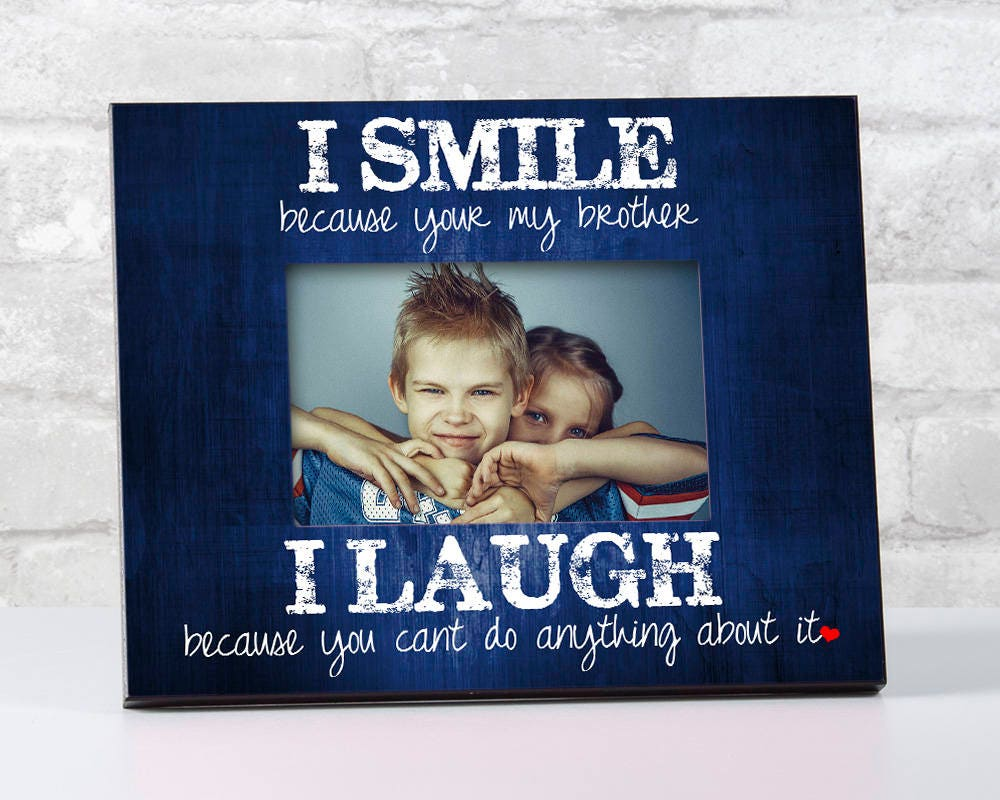 Brother Gift for Brother from Brother, Siblings Picture Frame, To ...