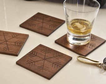 Amazing Snowflake Drink Coasters   Set Of 4 Awesome Ideas