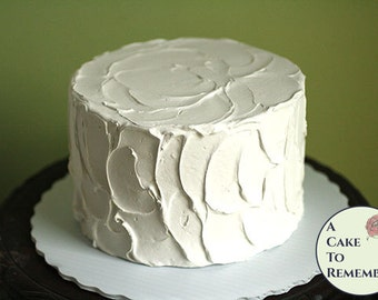 """6"""" round fake cake, faux cake for wedding cake cupcake display, food prop, photo shoots and home staging. Engagement prop, theatrical prop."""
