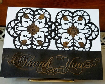 Thank You Card, Homemade Thank You Card, Thank You Greeting Card, Home made card