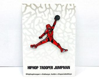 "Just Jumped Over Jumpman! 1.75"" Soft Enamel Pin + Trading Card: Edition of 88 sets!"