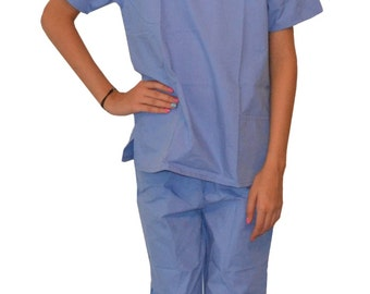 Ceil Blue Kids Scrubs Embroidered Personalized for little Doctors and Nurses
