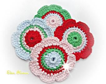 Crochet Flowers ref: X147(4 flowers)