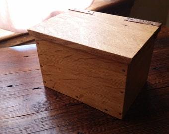 Repurposed/Reclaimed quarter sawn oak box  #236