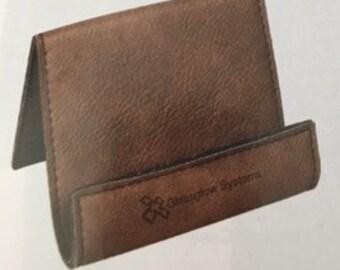 Leather tablet holder/easel