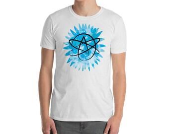Atheist symbol shirt, atheist symbol, atheism, atheism shirt atheism t shirt agnostic agnostic shirt atheist gift t-shirt atheist clothing