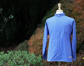 Traditional Solberg Bright Blue - cotton shirt - Button Down