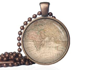 World map necklace etsy eastern hemisphere necklace world map pendant world map necklace map necklace globe gumiabroncs Gallery