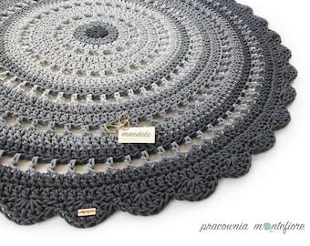Crochet Rug / Round Rug / Nursery Rug / Floor Rug / Doily Rug / Mandala Rug / Kids Room Rug / Houswarming Gift / Cotton Rug