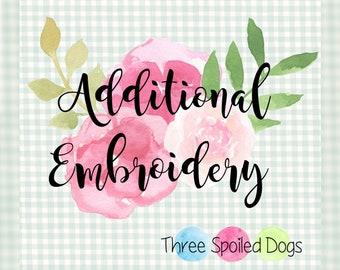 Additional Embroidery - Personalized Pet Bandana  - Reversible Dog Bandana - Monogram by Three Spoiled Dogs