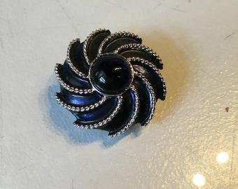 Vintage Avon Sapphire Pinwheel Brooch