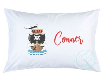 Personalized Custom Pirate Ship Pillowcase