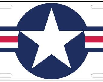 Vintage Air Force License Plate Tag