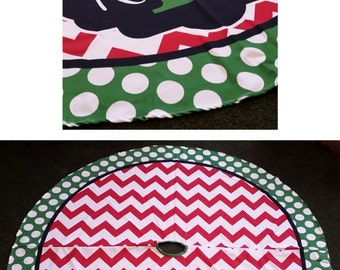 Christmas Tree Skirt Personalized, Monogrammed Christmas Tree Skirt,  Christmas Decor, Holiday Decor,