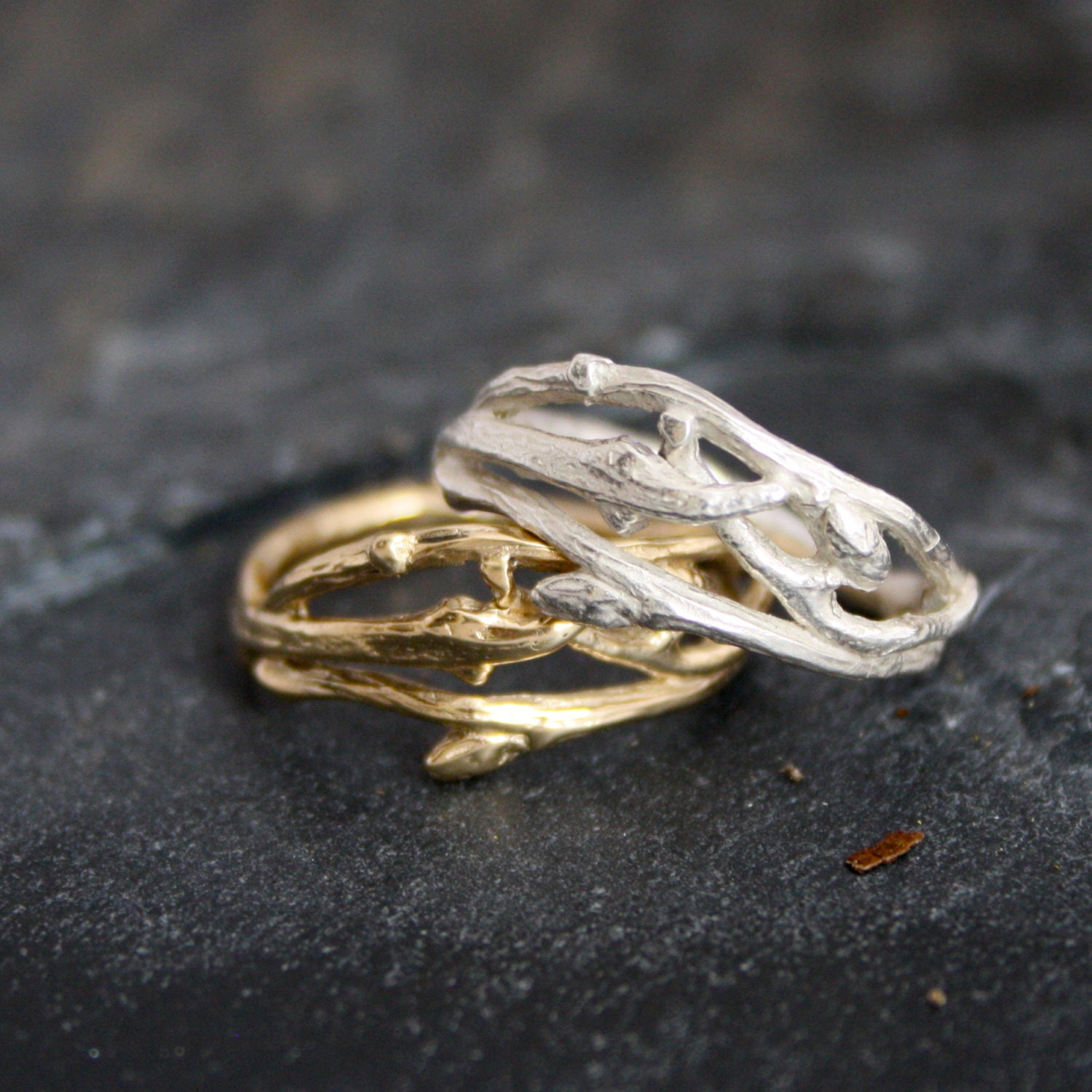 twig recycled engagement oval friendly rings ring eco with moissanite gold wedding of rose