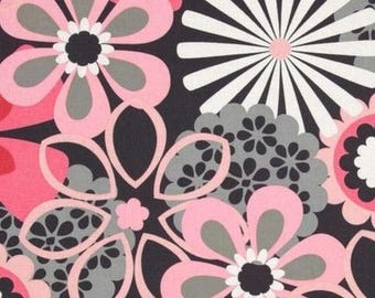 Fabric patchwork, fabric flowers, fabric grey Miller pink coupon