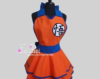 Goku Inspired Cosplay Apron