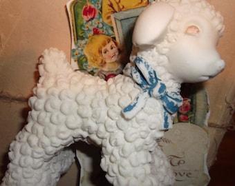 Vintage Baby Lamb Figurine
