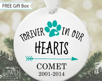 Dog Memorial Ornament Pet Loss Personalized Dog Ornament Pet Remembrance Ornament Dog Keepsake Christmas Ornament Custom Dog Gift #OR15MG