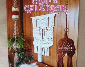1977 Macramé Craft Calendar - Macramé Plant Hanger Pattern - Macramé Wall Hangings Pattern - Macramé Wall Art Pattern - Vintage Macramé