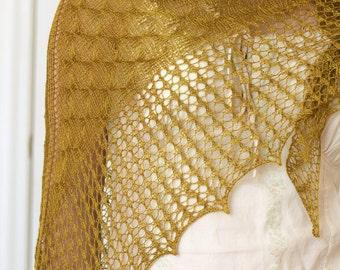 Knitting pattern, knit shawl pattern, knitting tutorial, lace shawl Butterflies in Nets