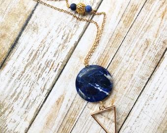 CLEARANCE Sodalite Arrow Necklace