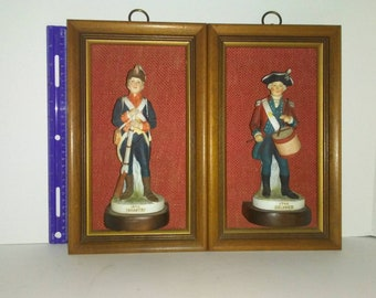Antique Porcelain Wall Soldiers