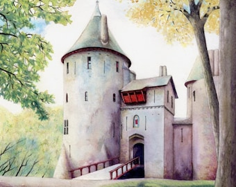 """Print of Castell Coch 