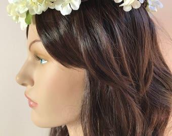 Bridal Flower Crown, Azalea Blossom Crown, Wedding Halo, Brides Flower Halo, Halo, Circlet, Brides Tiara, Flower Hair Crown, Hair Vine