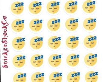 Sleep Stickers, Sleep Icon Stickers, Deam Stickers, The Happy Planner, Erin Condren, Sleep Planner