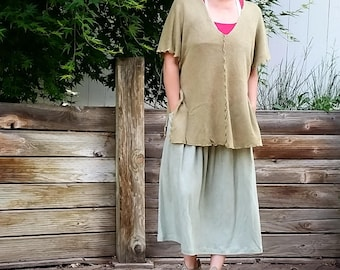 Jasmine layering HEMP sweater poncho