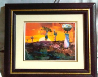 Framed Mountain Women 5in x 7in Collage Print