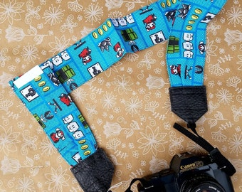 Mario Camera Strap, Camera Strap with Accessory Pocket, dslr Camera Strap, Camera Neck Strap, Camera Accessories, Photography Supplies