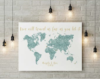 Map of the world etsy custom world map digital file custom quote map wedding world map love world gumiabroncs Images