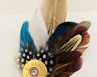 Small Feather Brooch or Hat Pin