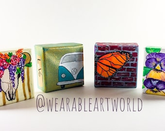 3x3 canvas magnets