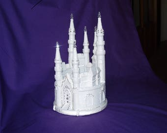Crystal Castle Cake Topper Decoration