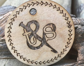"""2"""" Wooden Circle Tag, Buisness Tags, Custom Personalized Tags, Knitting, Engraved tags, Craft Buttons, Wedding tags, thank you tags, party"""